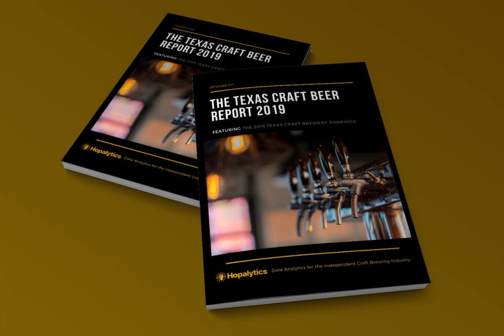 Mockup of the Texas Craft Beer Report 2019 cover.